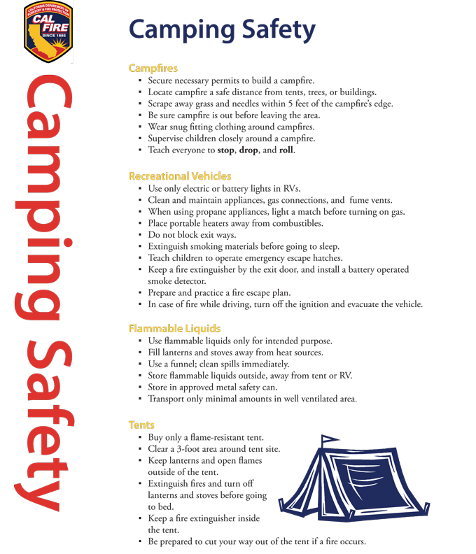 Cal Fire Offers Camping Safety Tips