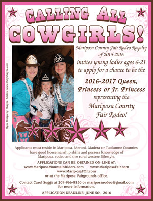 Mariposa Rodeo Queen ad