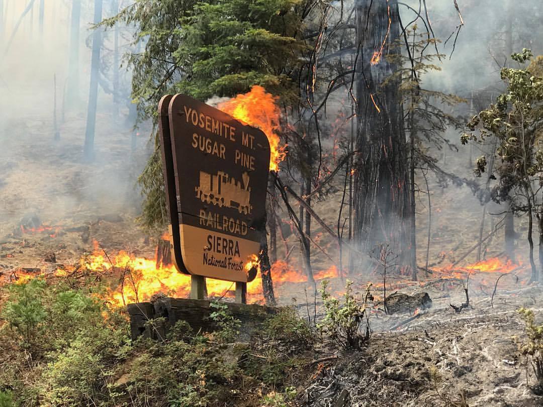 Mariposa county sheriff s office announces railroad fire for Yosemite fish camp