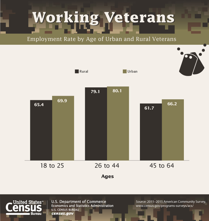 nearly one quarter of veterans live in rural areas census. Black Bedroom Furniture Sets. Home Design Ideas