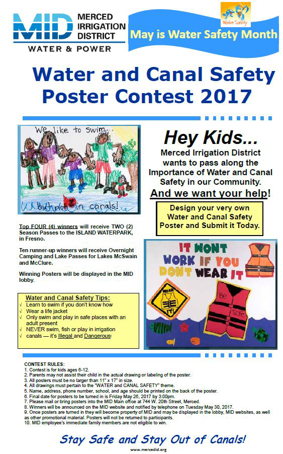 Lees Auto Sales >> Merced Irrigation District Seeks Entries for 2017 Annual Water-Safety Poster Contest - Ten ...