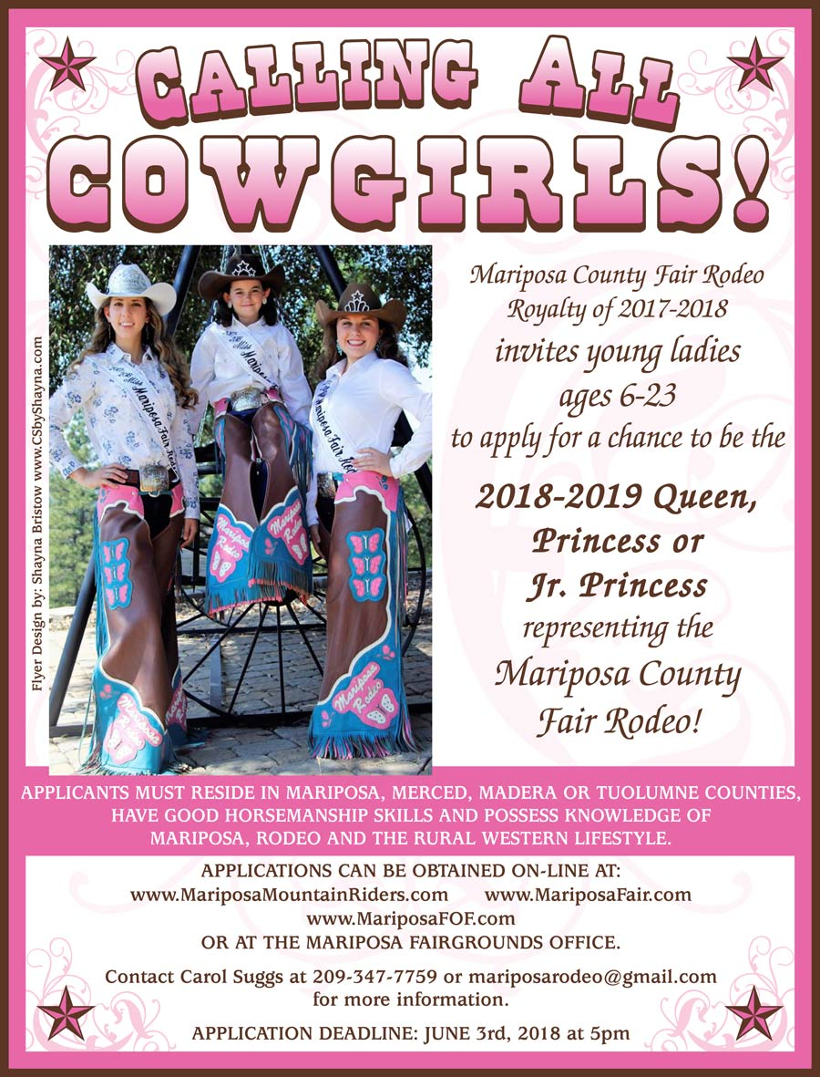 Mariposa Rodeo Queen flyer