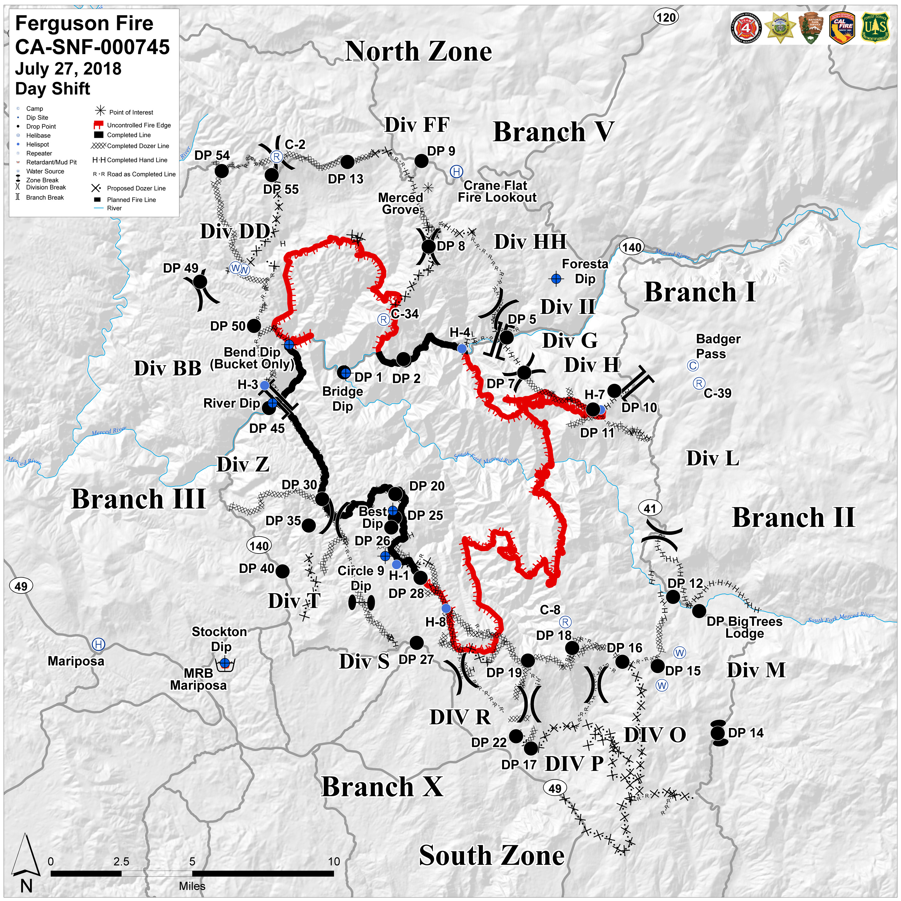 County Line 2 Fire Map.Ferguson Fire Near Yosemite National Park In Mariposa County Friday