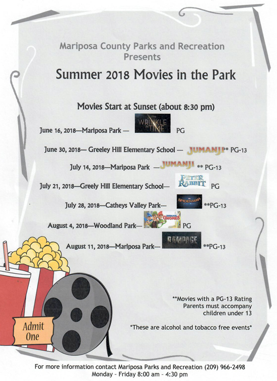Movies in the Park sm