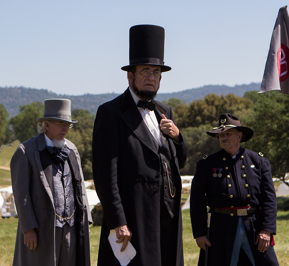 24, 2013 - 2013 Mariposa Civil War Reenactment with President Lincoln