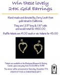 Mariposa Museum & History Center to Raffle Beautiful 24K Gold Earrings... Get Your Tickets Today!