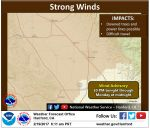 National Weather Service Issues a Wind Advisory Beginning Sunday Evening, February 19, 2017 for Locations Including Mariposa, Madera, and Fresno County Foothills