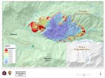 Progression Map for South Fork Fire in Yosemite National Park for Tuesday, August 22, 2017