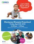 First 5 California Van to Visit the Mariposa Kiwanis Preschool on Friday, April 29, 2016