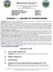 Mariposa County Board of Supervisors Meeting Agenda for Tuesday, September 27, 2016