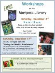 Mariposa County Library to Offer Free 'Green STEAM' Makerspace Family Activities on December 3 & 17, 2016