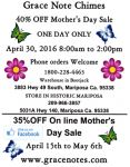 Grace Note Chimes Mother's Day Special Sale