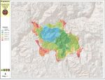 Progression Map of the Ferguson Fire Near Yosemite National Park in Mariposa County for Saturday, July 21