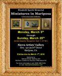 Elizabeth Specht Memorial Miniature Show Returns to the Sierra Artists' Gallery March 5 - March 25, 2018