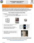 Ferguson Fire Homemade Indoor Air Filter Instructions for Mariposa County Residents