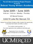 UC Merced Writing Project Sponsors 7th Annual Bobcat Young Writers Academy