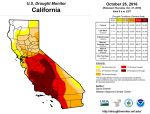 California and National Drought Summary for October 25, 2016