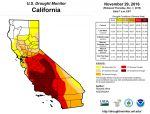 California and National Drought Summary for November 29, 2016