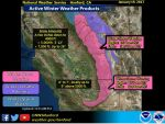 National Weather Service Hanford Issues a Winter Storm Warning for Sierra Nevada and Kern County Mountains Beginning Friday, January 20, 2017 at 4:00 A.M.