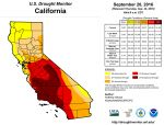 California and National Drought Summary for September 20, 2016