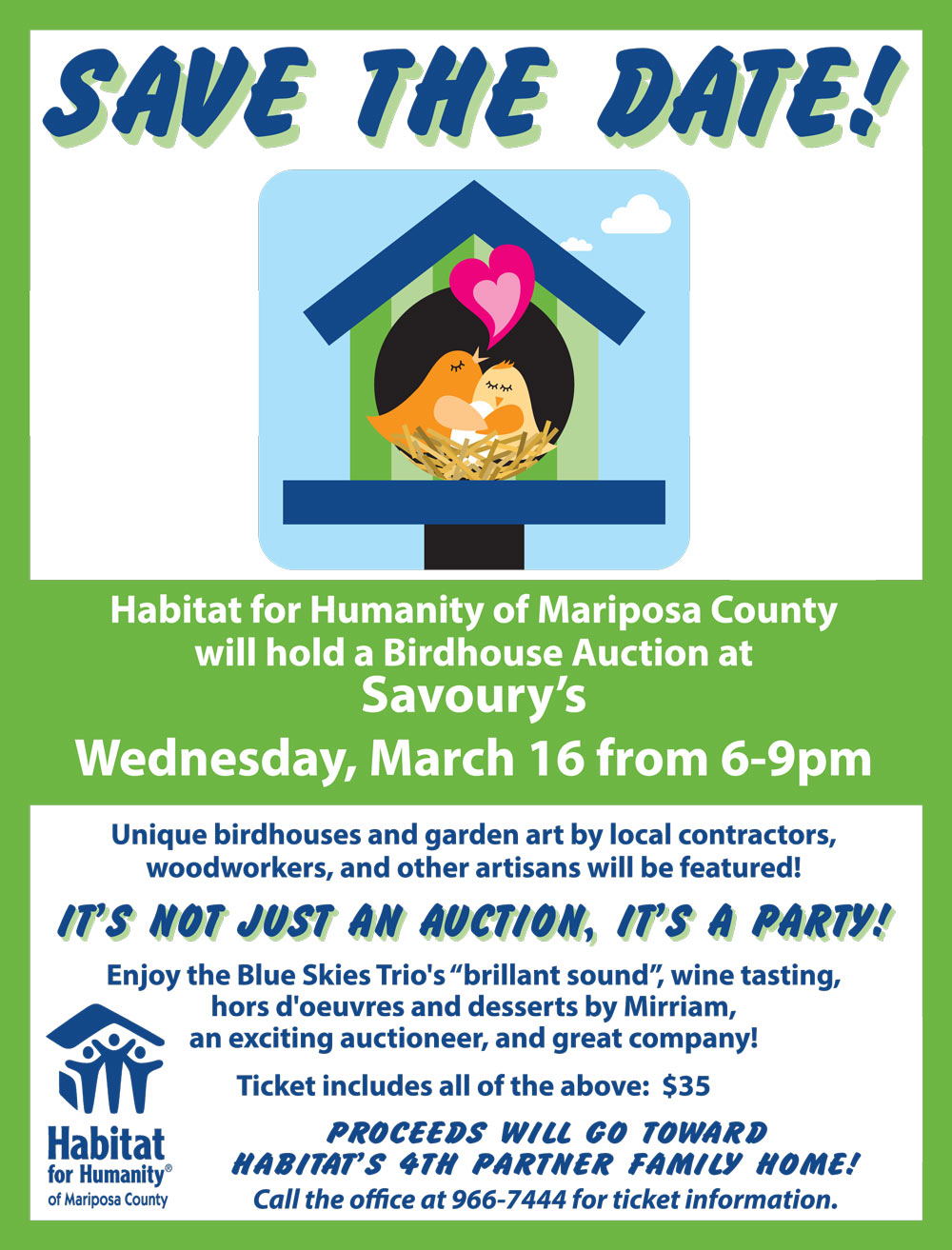 Mariposa Habitat For Humanity To Host A Birdhouse Auction