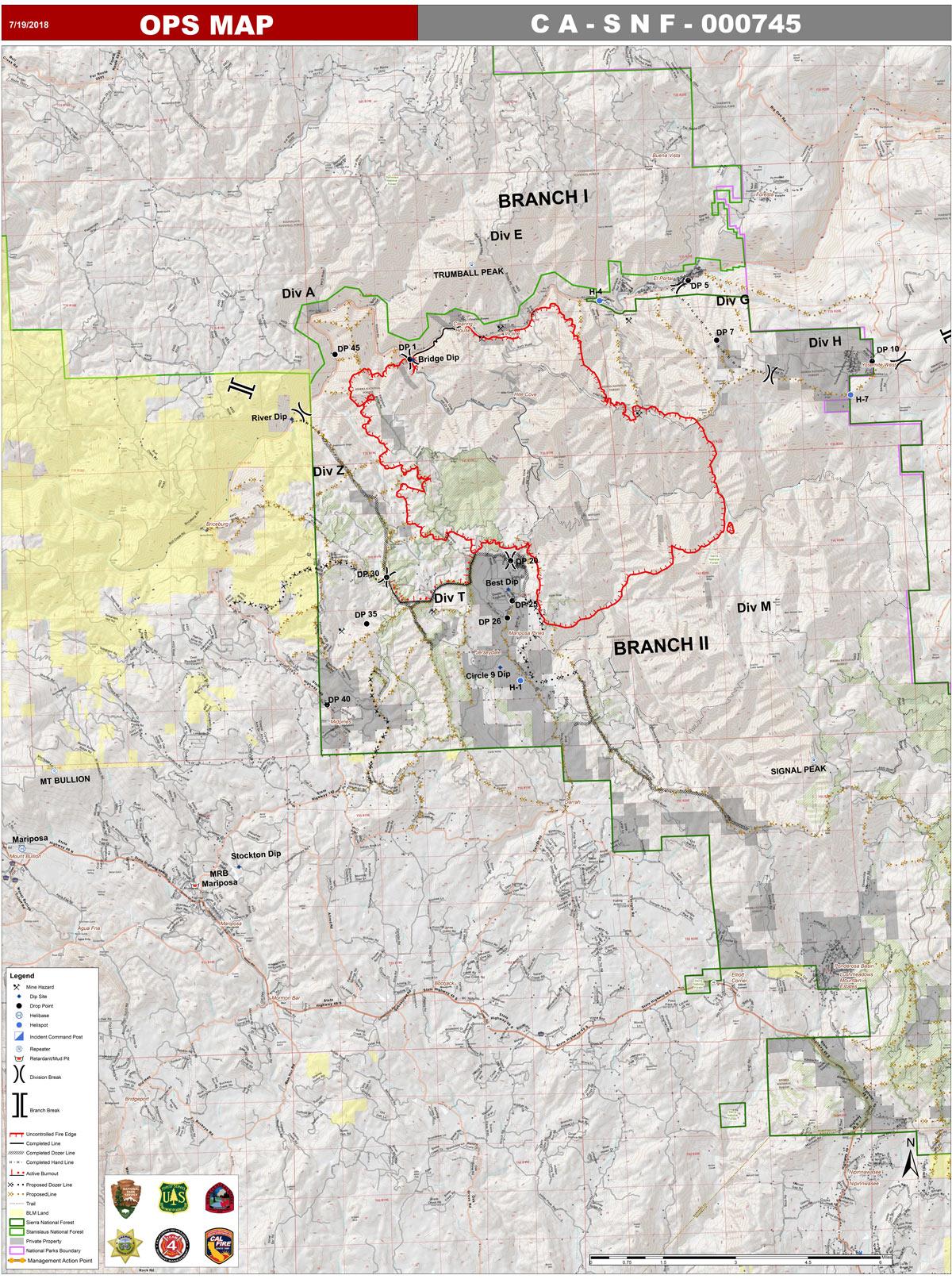 Ferguson Fire California Map.Ferguson Fire Near Yosemite National Park In Mariposa County