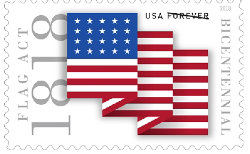 USPS Forever Stamp 200th Anniversary of the Flag Act of 1818