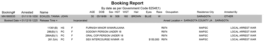 mariposa county booking report for january 12 2019