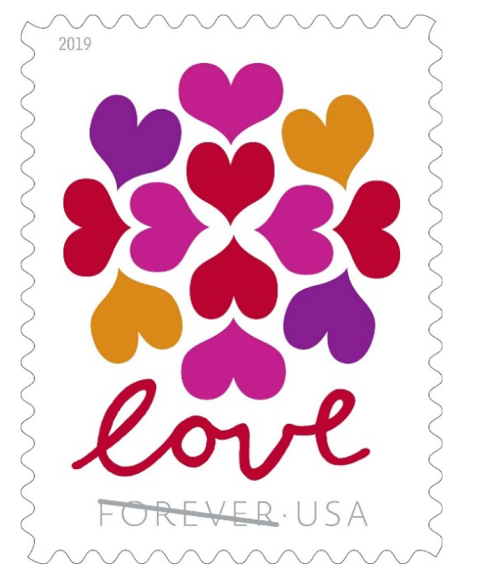 usps celebrate love with hearts blossom stamp