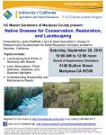 Mariposa County Master Gardeners Host Free Native Grasses Workshop on Saturday, September 29, 2018