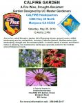 UC Master Gardeners of Mariposa County to Host a CAL FIRE Garden Presentation on Saturday, May 25, 2019