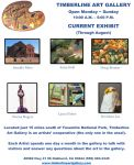 Timberline Art Gallery in Oakhurst Showcases Area Artists in August Exhibit
