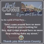 "Mariposa County Public Health Asks All Visitors and Part-Time Residents to Please Follow the ""Stay Home"" Orders Issued on March 19, 2020"