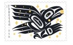 U.S. Postal Service Honors Raven Story with Stamp - Stamp Art Created by Tlingit/Athabascan Artist and Alaska Native Rico Worl