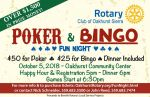 Oakhurst Sierra Rotary Club Hosts 4th Annual Poker & Bingo Fun Night on Friday, October 5, 2018
