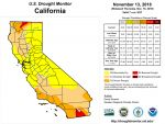 California and National Drought Summary for November 13, 2018, 10 Day Weather Outlook, and California Drought Statistics