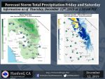Friday Through Saturday's Projected Rainfall Totals for Mariposa, Oakhurst up to 0.50
