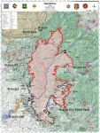 Sierra National Forest Creek Fire Operations Map for Monday, September 21, 2020 - Shows Divisions, Uncontrolled Fire Edge, Completed Dozer Lines, Proposed Dozer Lines