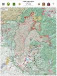 Sierra National Forest Creek Fire Public Information Map for Tuesday, October 20, 2020 - Shows Contained Line and Uncontrolled Fire Edge