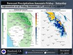 Weather Service Updates Today's (Friday) Through Saturday's Projected Rainfall Totals for Mariposa, Oakhurst and Yosemite Valley