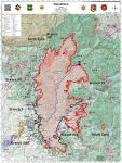 Sierra National Forest Creek Fire Operations Map for Sunday, September 20, 2020 - Shows Divisions, Uncontrolled Fire Edge, Completed Dozer Lines, Proposed Dozer Lines