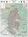 Sierra National Forest Creek Fire Operations Map for Wednesday, September 30, 2020 - Shows Divisions, Uncontrolled Fire Edge, Completed Dozer Lines, Proposed Dozer Lines