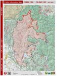 Sierra National Forest Creek Fire Public Information Map for Wednesday, October 21, 2020 - Shows Contained Line and Uncontrolled Fire Edge