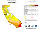 California and National Drought Summary for September 18, 2018, 10 Day Weather Outlook, and California Drought Statistics