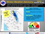 National Weather Service Issues a Winter Weather Advisory from Yosemite National Park through Kings Canyon Beginning at 4:00 P.M. Sunday