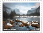 Newly Released Forever Stamps Feature the Beauty of Unspoiled Waterways - Features Merced River in Yosemite National Park