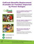 Are You A CalFresh Recipient Whose Food Spoiled Due To The Power Outages? You Can Request A Replacement Of Your CalFresh Food Benefits