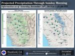 Saturday Through Sunday Weather Service Projected Rainfall Totals for Mariposa, Oakhurst and Yosemite Valley