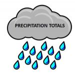 Saturday Rainfall Totals for the Central Valley and Foothill Locations Including Mariposa County and Madera County