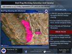Weather Service Issues a Red Flag Warning for Saturday and Sunday for the Sierra Nevada and Tehachapi Mountains